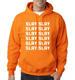 Slay Slay Slay Men Hoodies White-Gildan-Daataadirect.co.uk