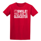 Smile you are in Gloucester Kids T-Shirt-Gildan-Daataadirect.co.uk