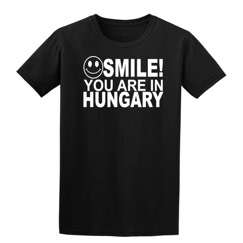 Smile you are in Hungary Kids T-Shirt-Gildan-Daataadirect.co.uk