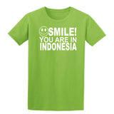 Smile you are in Indonesia Kids T-Shirt-Gildan-Daataadirect.co.uk