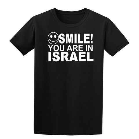 Smile you are in Israel Kids T-Shirt-Gildan-Daataadirect.co.uk