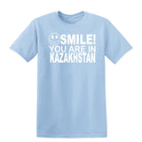 Smile you are in Kazakhstan Kids T-Shirt-Gildan-Daataadirect.co.uk