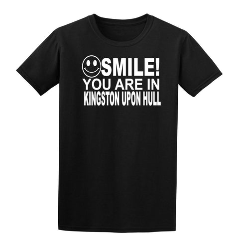 Smile you are in Kingston Upon Hull Kids T-Shirt-Gildan-Daataadirect.co.uk