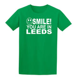 Smile you are in Leeds Kids T-Shirt-Gildan-Daataadirect.co.uk