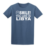 Smile you are in Libya Kids T-Shirt-Gildan-Daataadirect.co.uk