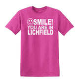 Smile you are in Lichfield Kids T-Shirt-Gildan-Daataadirect.co.uk