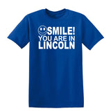 Smile you are in Lincoln Kids T-Shirt-Gildan-Daataadirect.co.uk