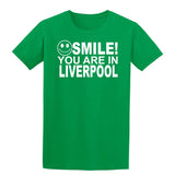 Smile you are in Liverpool Kids T-Shirt-Gildan-Daataadirect.co.uk