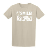 Smile you are in Malaysia Kids T-Shirt-Gildan-Daataadirect.co.uk