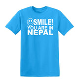 Smile You Are In Nepal Kids T-Shirt-Gildan-Daataadirect.co.uk