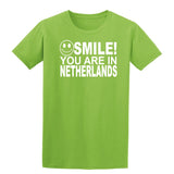 Smile You Are In Netherlands Kids T-Shirt-Gildan-Daataadirect.co.uk