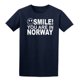 Smile You Are In Norway Kids T-Shirt-Gildan-Daataadirect.co.uk