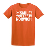 Smile You Are In Norwich Kids T-Shirt-Gildan-Daataadirect.co.uk
