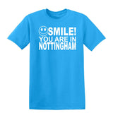 Smile You Are In Nottingham Kids T-Shirt-Gildan-Daataadirect.co.uk