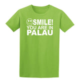 Smile You Are In Palau Kids T-Shirt-Gildan-Daataadirect.co.uk