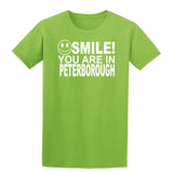 Smile You Are In Peterborough Kids T-Shirt-Gildan-Daataadirect.co.uk