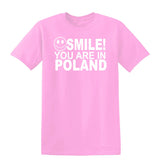 Smile You Are In Poland Kids T-Shirt-Gildan-Daataadirect.co.uk