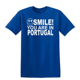 Smile You Are In Portugal Kids T-Shirt-Gildan-Daataadirect.co.uk