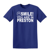 Smile You Are In Preston Kids T-Shirt-Gildan-Daataadirect.co.uk