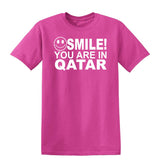 Smile You Are In Qatar Kids T-Shirt-Gildan-Daataadirect.co.uk