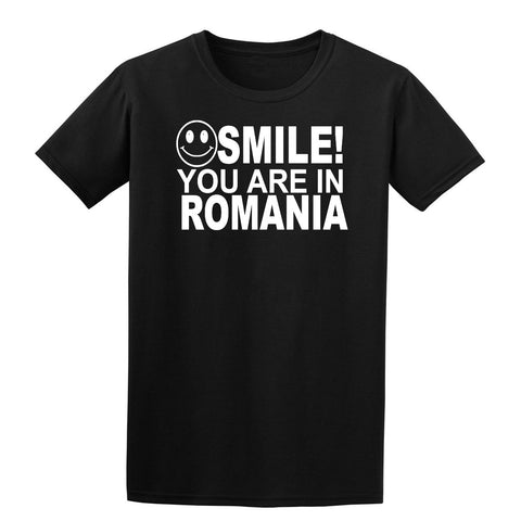 Smile You Are In Romania Kids T-Shirt-Gildan-Daataadirect.co.uk