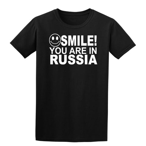 Smile You Are In Russia Kids T-Shirt-Gildan-Daataadirect.co.uk
