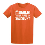 Smile You Are In Salisbury Kids T-Shirt-Gildan-Daataadirect.co.uk