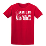 Smile You Are In Saudi Arabia Kids T-Shirt-Gildan-Daataadirect.co.uk
