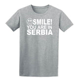Smile You Are In Serbia Kids T-Shirt-Gildan-Daataadirect.co.uk