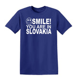 Smile You Are In Slovakia Kids T-Shirt-Gildan-Daataadirect.co.uk