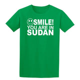 Smile You Are In Sudan Kids T-Shirt-Gildan-Daataadirect.co.uk
