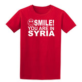 Smile You Are In Syria Kids T-Shirt-Gildan-Daataadirect.co.uk