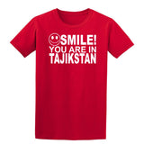 Smile You Are In Tajikistan Kids T-Shirt-Gildan-Daataadirect.co.uk