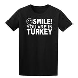 Smile You Are In Turkey Kids T-Shirt-Gildan-Daataadirect.co.uk