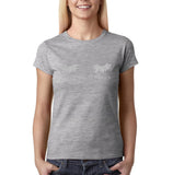 Sparkle Womens T Shirt Silver Glitter-Gildan-Daataadirect.co.uk