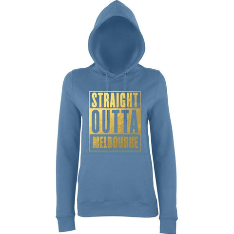 STRAIGHT OUTTA SOMEWHERE 'Your Text' Custom  Women Hoodies Gold-AWD-Daataadirect.co.uk