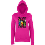Surf Pirate SkateBoard Beech Women Hoodies-AWD-Daataadirect.co.uk