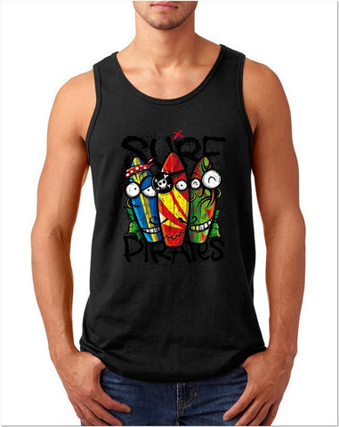 Surf Pirates beach Men Tank Top-Gildan-Daataadirect.co.uk