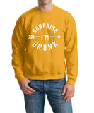 Surprise I Am Drunk Men Sweat Shirts White-Gildan-Daataadirect.co.uk