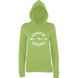 Surprise I Am Drunk Women Hoodies White-AWD-Daataadirect.co.uk