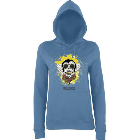 Swag Monkey More Gold More Bitches Women Hoodies-AWD-Daataadirect.co.uk
