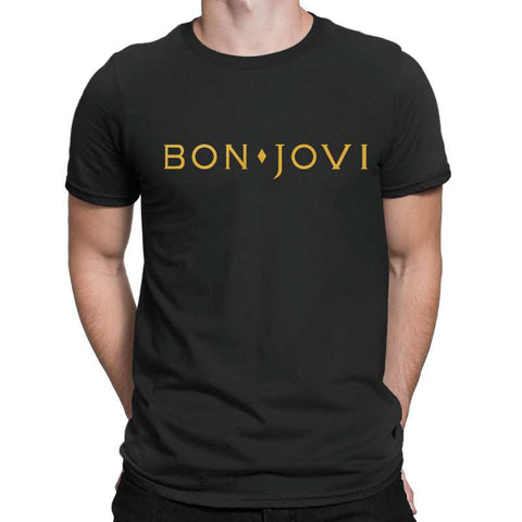 The Bonjovi Mens T Shirts-Gildan-Daataadirect.co.uk