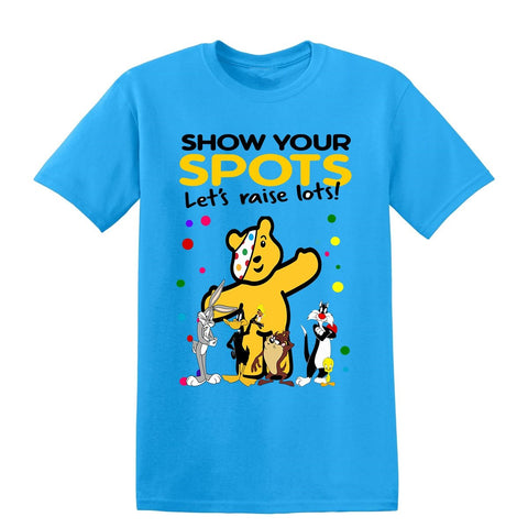 The Bugs Bunny Show Spotty Day Children In Need Kids T-Shirt-t-shirts-Gildan-Colour-Size-Daataadirect