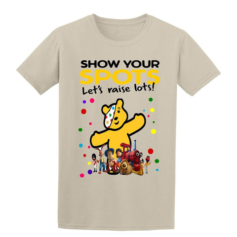 The Magic Roundabout Spotty Day Children In Need Kids T-Shirt-t-shirts-Gildan-Colour-Size-Daataadirect