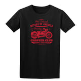 The Old School Motors Of America Chopper Club Mens T Shirts-Gildan-Daataadirect.co.uk