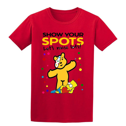 The Simpsons Spotty Day Children In Need Kids T-Shirt-t-shirts-Gildan-Colour-Size-Daataadirect