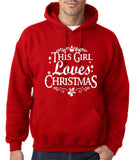 This girl loves christmas Mens Hoodies-Gildan-Daataadirect.co.uk