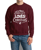 This guy loves christmas Mens SweatShirt White-Gildan-Daataadirect.co.uk