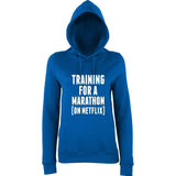 TRAINING FOR A MARATHON (ON NETFLIX) Women Hoodies White-AWD-Daataadirect.co.uk