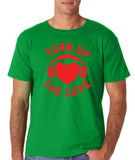 Turn Up The Love Music Lover Men T Shirts Red-Gildan-Daataadirect.co.uk